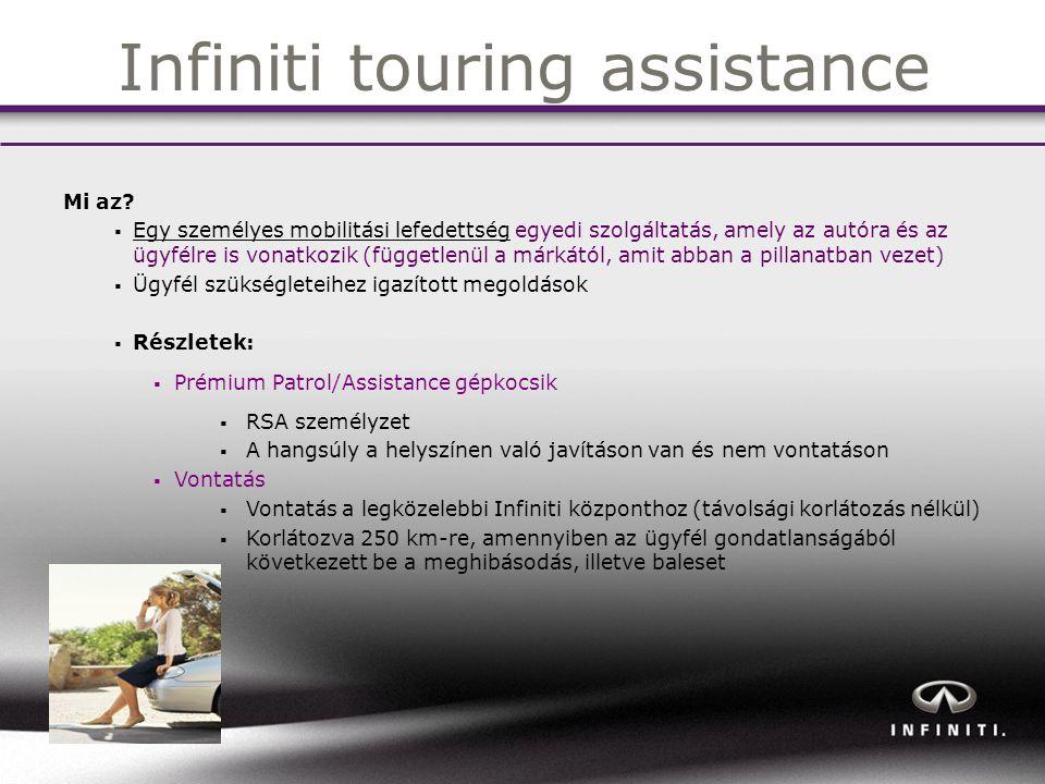 Infiniti touring assistance