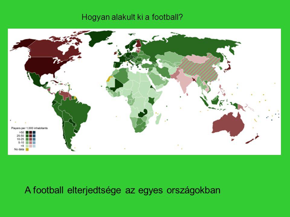 A football elterjedtsége az egyes országokban