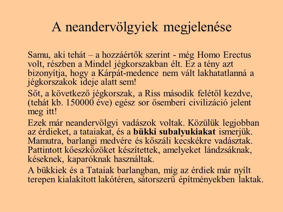 A neandervölgyiek megjelenése