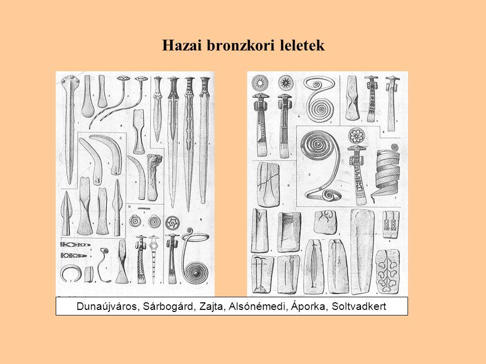 Hazai bronzkori leletek