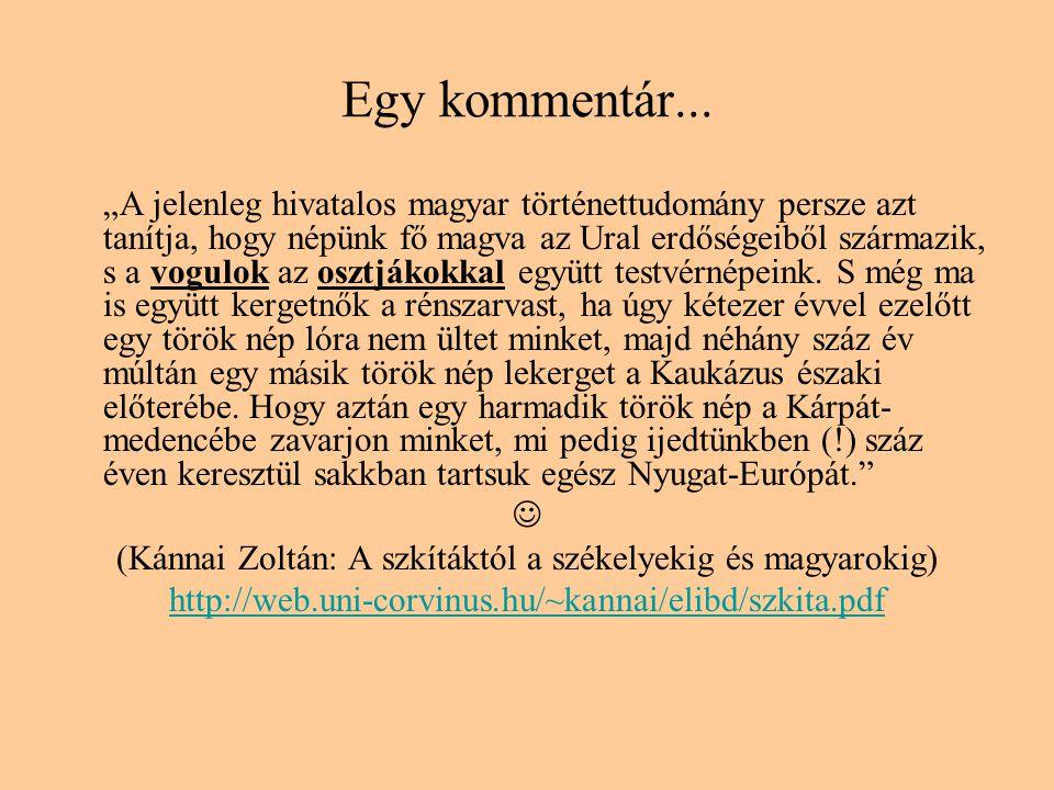 (Kánnai Zoltán: A szkítáktól a székelyekig és magyarokig)