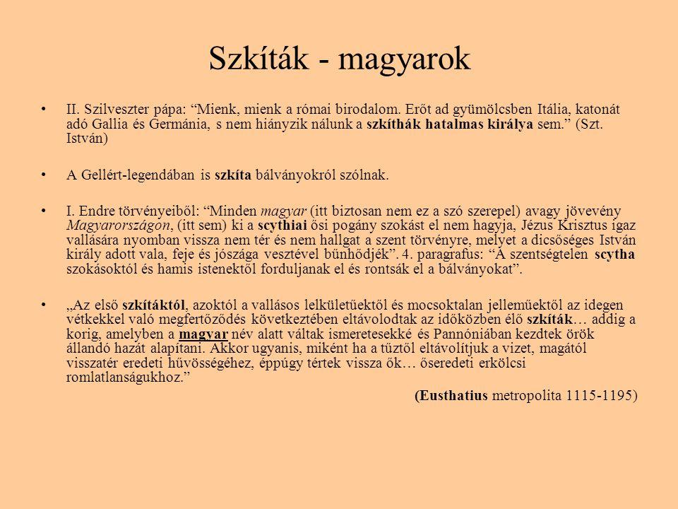 Szkíták - magyarok