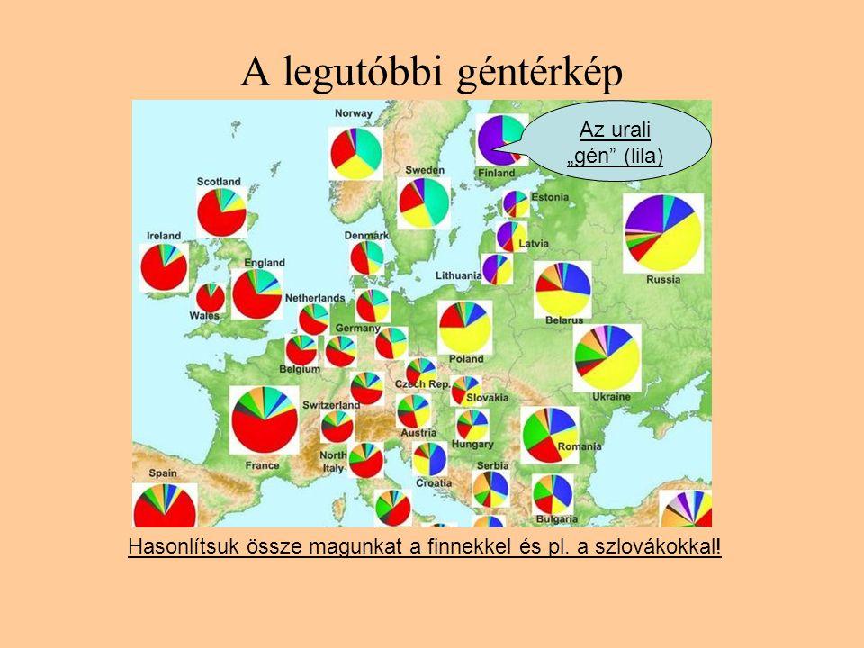 """A legutóbbi géntérkép Az urali """"gén (lila)"""