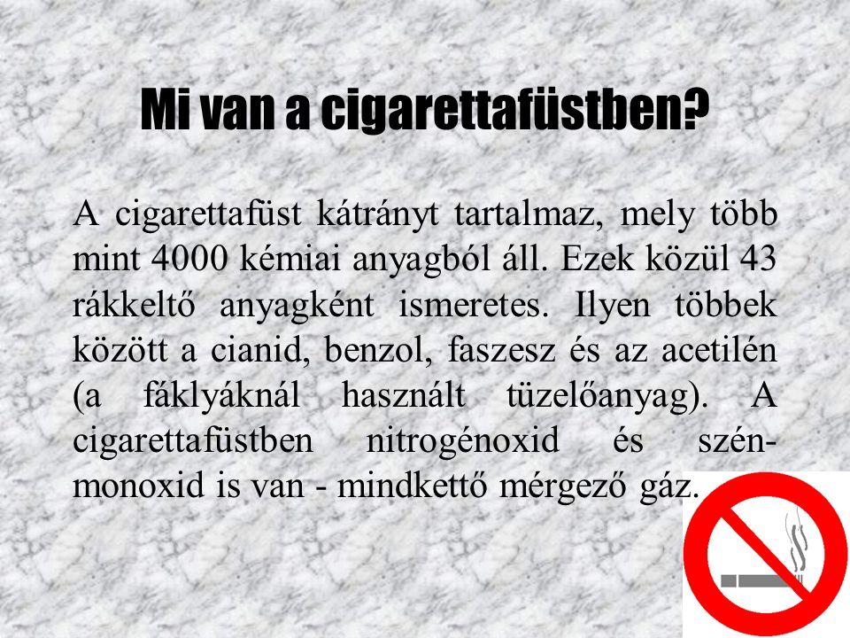 Mi van a cigarettafüstben