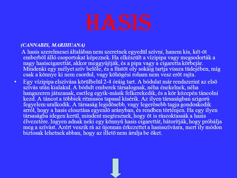 hasis (CANNABIS, MARIHUANA)