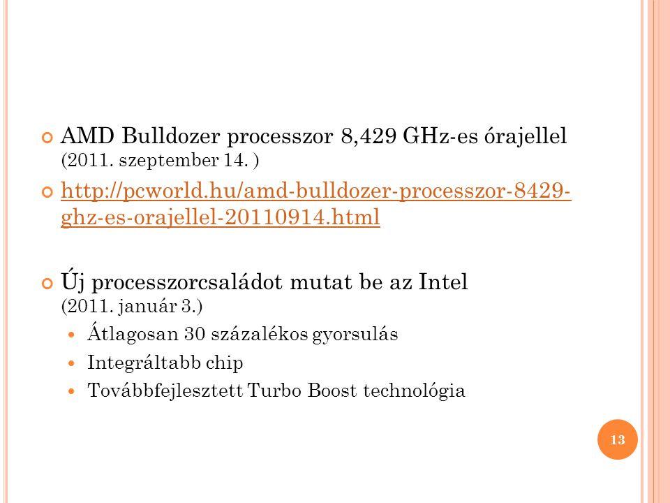 Új processzorcsaládot mutat be az Intel (2011. január 3.)