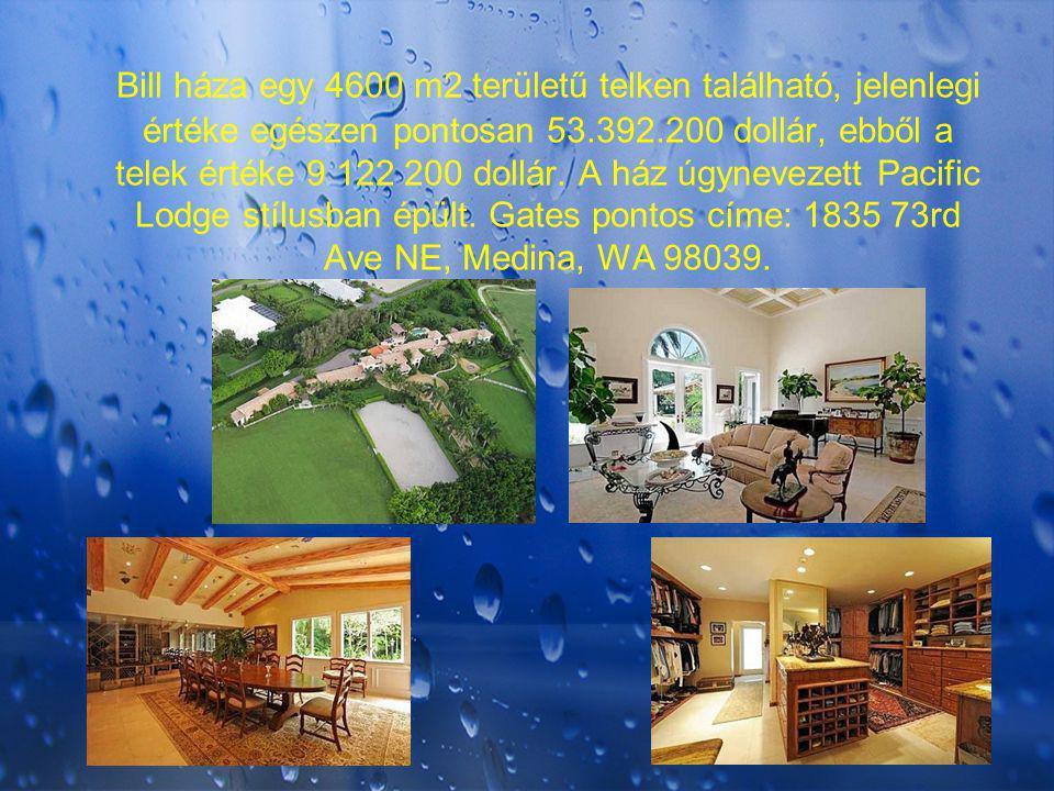 Bill háza egy 4600 m2 területű telken található, jelenlegi értéke egészen pontosan 53.392.200 dollár, ebből a telek értéke 9 122 200 dollár.