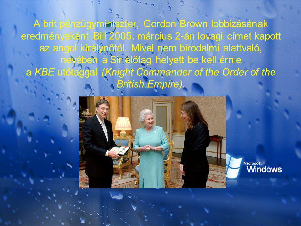 A brit pénzügyminiszter, Gordon Brown lobbizásának eredményeként Bill 2005.