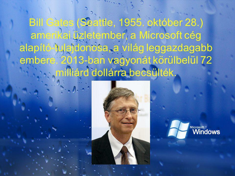 Bill Gates (Seattle, 1955. október 28