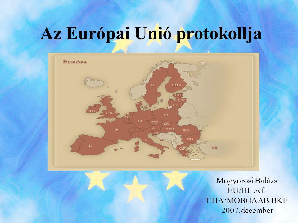 Az Európai Unió protokollja
