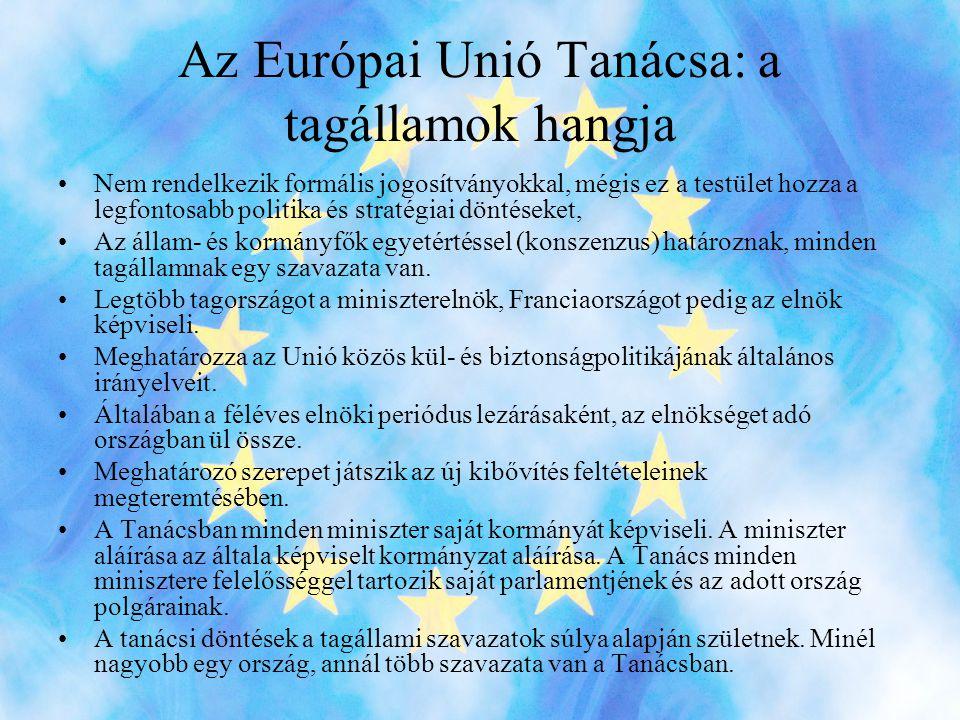 Az Európai Unió Tanácsa: a tagállamok hangja