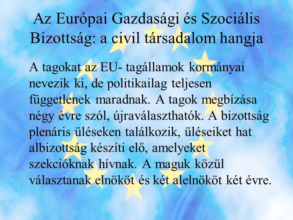 Az Európai Gazdasági és Szociális Bizottság: a civil társadalom hangja