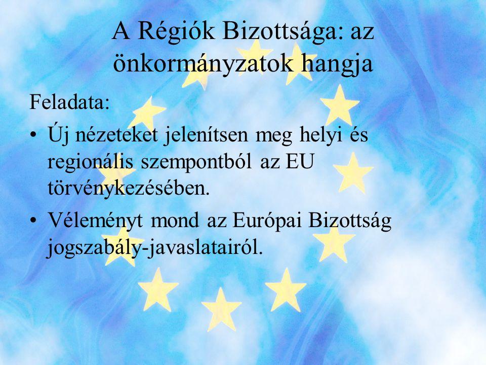 A Régiók Bizottsága: az önkormányzatok hangja