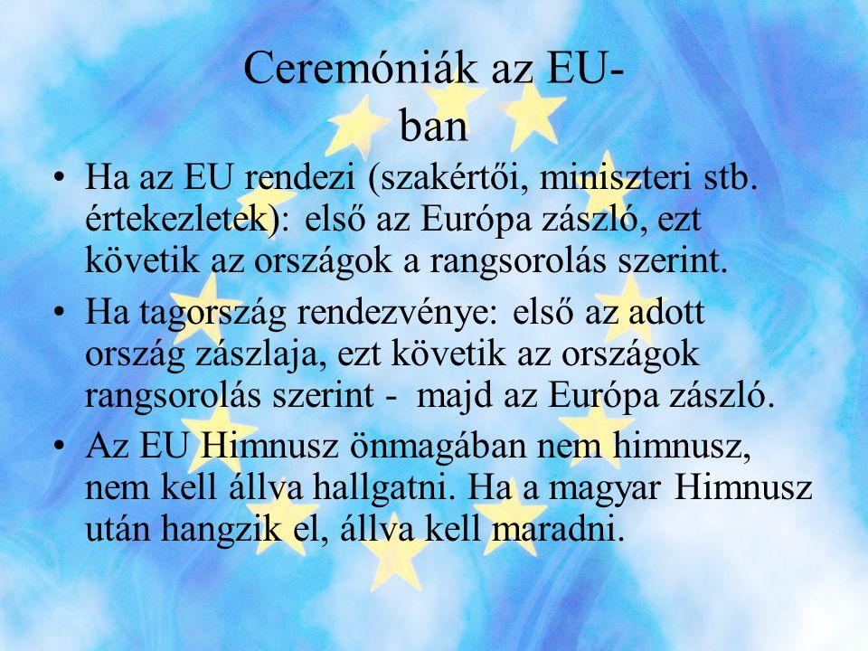 Ceremóniák az EU- ban