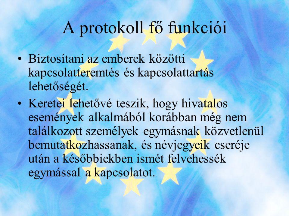 A protokoll fő funkciói