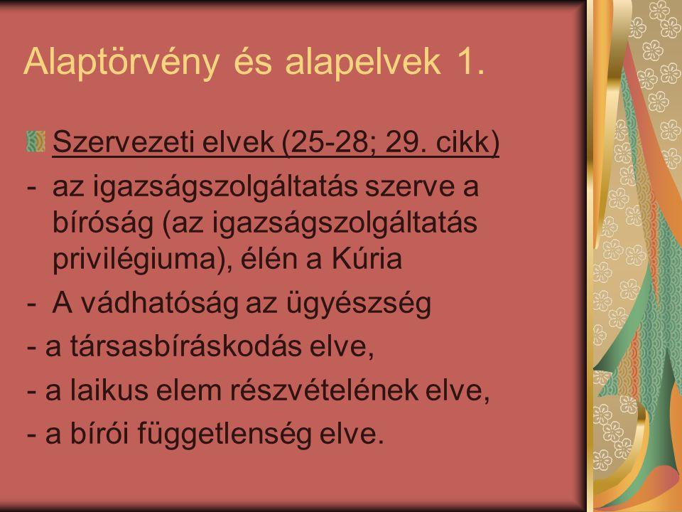 Alaptörvény és alapelvek 1.