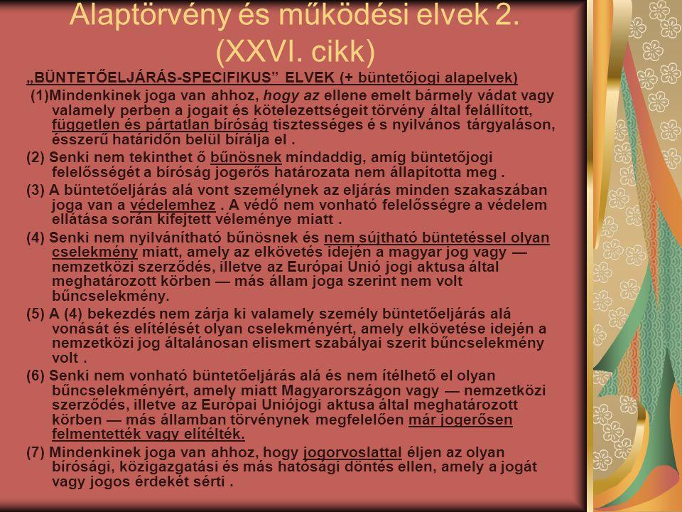Alaptörvény és működési elvek 2. (XXVI. cikk)