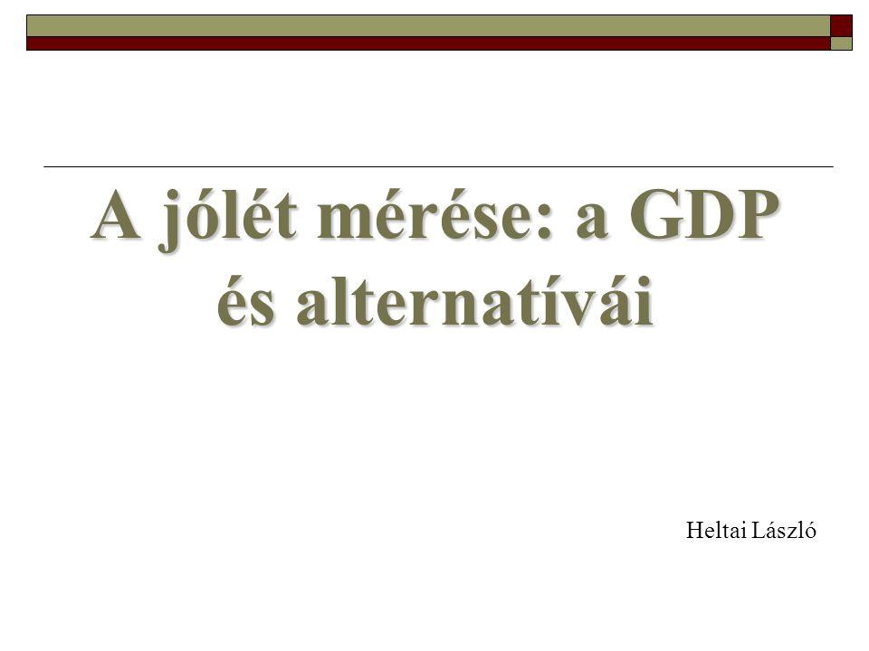 A jólét mérése: a GDP és alternatívái