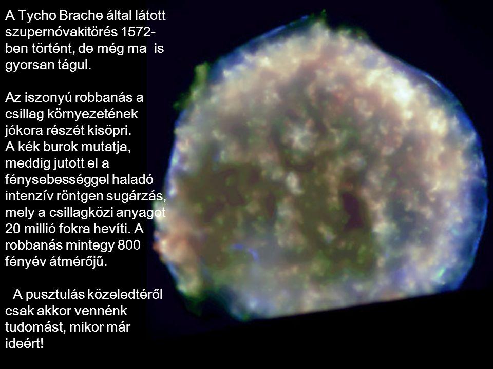 A Tycho Brache által látott szupernóvakitörés 1572-ben történt, de még ma is gyorsan tágul.