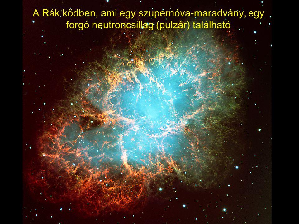 A Rák ködben, ami egy szupernóva-maradvány, egy forgó neutroncsillag (pulzár) található