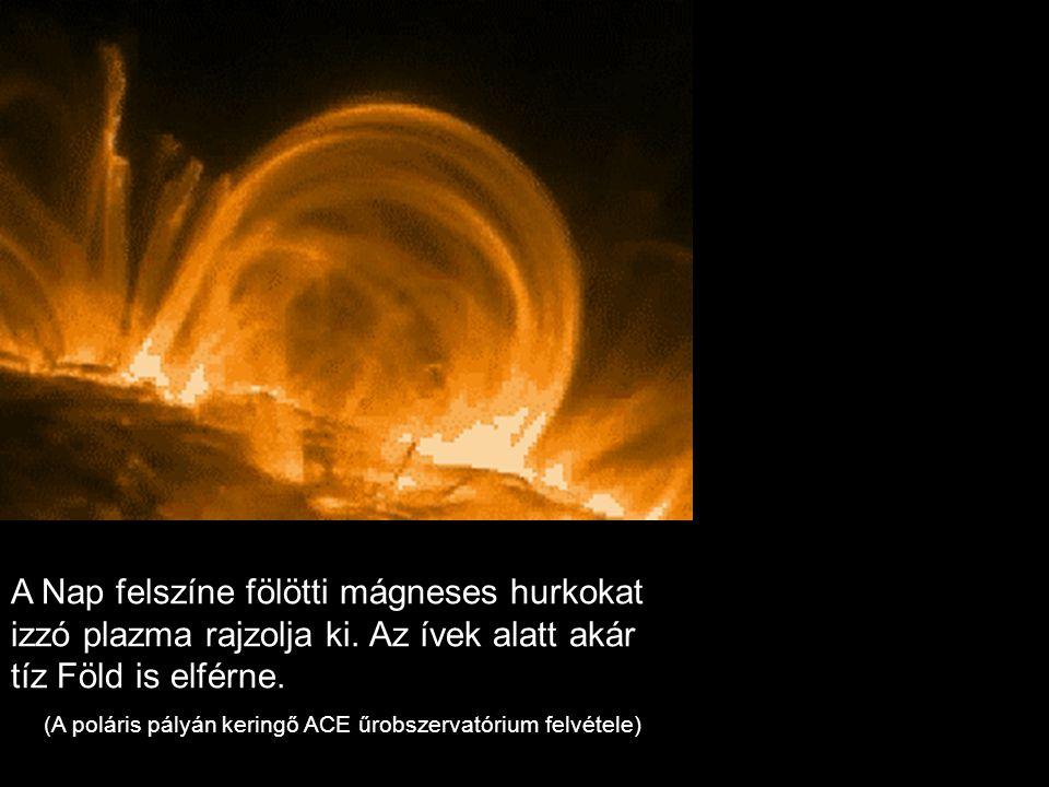 (A poláris pályán keringő ACE űrobszervatórium felvétele)