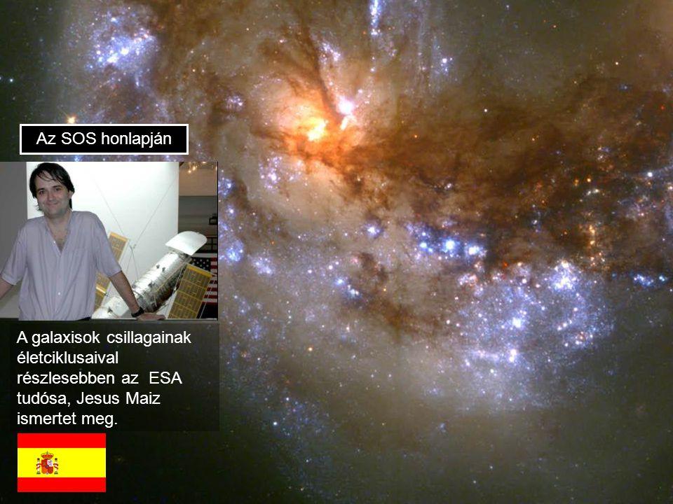 Az SOS honlapján A galaxisok csillagainak életciklusaival részlesebben az ESA tudósa, Jesus Maiz ismertet meg.