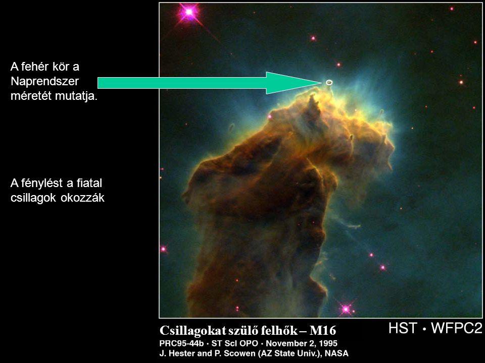 Csillagokat szülő felhők – M16