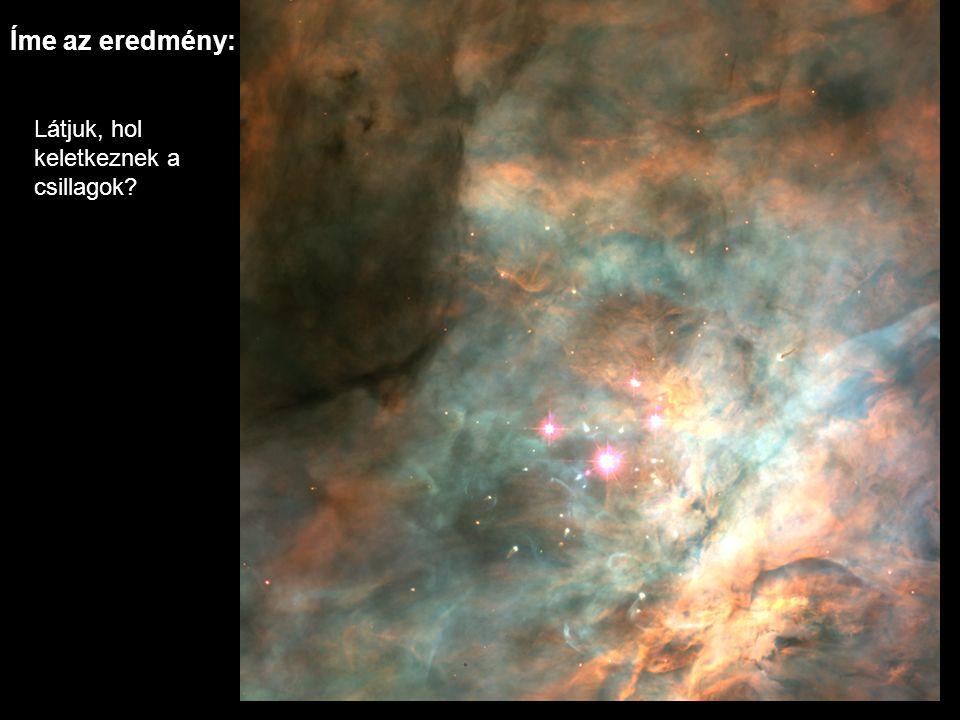 Íme az eredmény: Látjuk, hol keletkeznek a csillagok