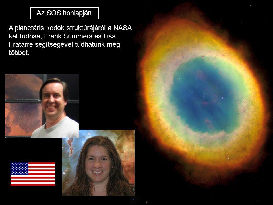 Az SOS honlapján A planetáris ködök struktúrájáról a NASA két tudósa, Frank Summers és Lisa Fratarre segítségevel tudhatunk meg többet.