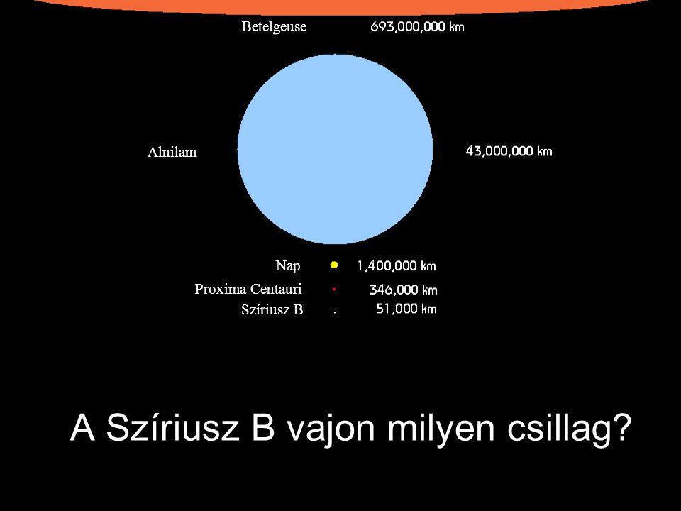 A Szíriusz B vajon milyen csillag