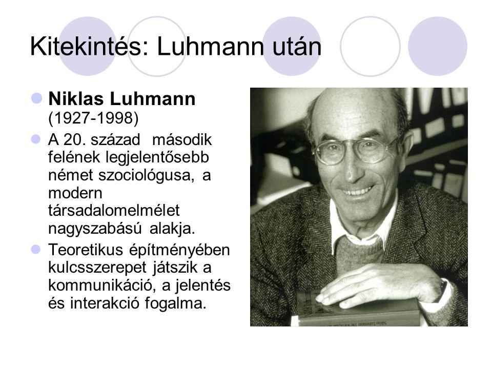 Kitekintés: Luhmann után