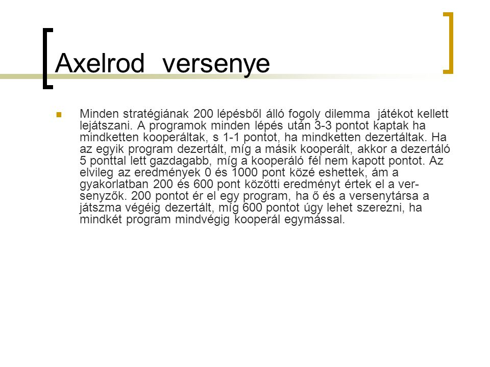 Axelrod versenye