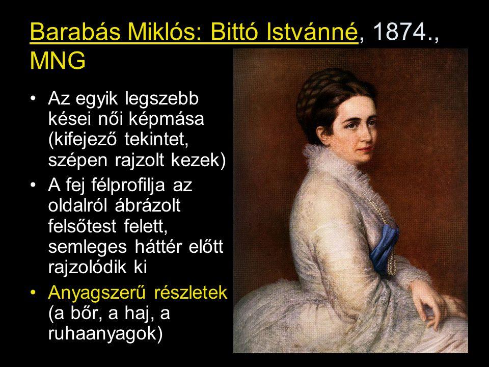 Barabás Miklós: Bittó Istvánné, 1874., MNG