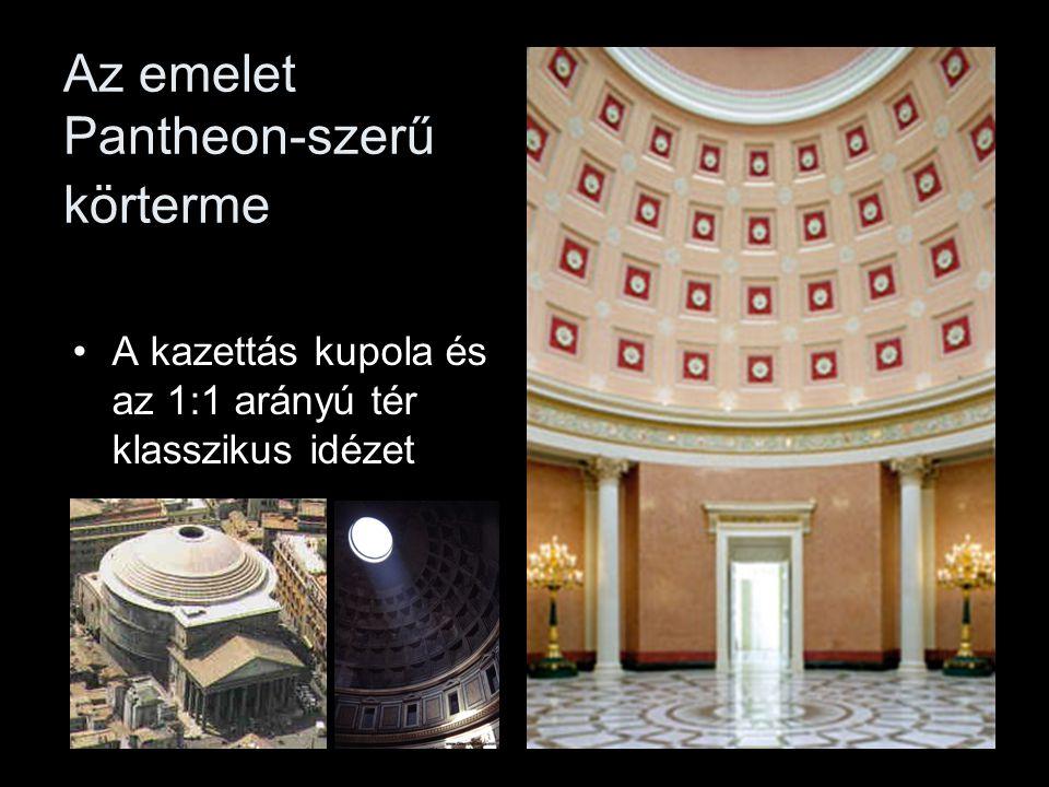 Az emelet Pantheon-szerű körterme