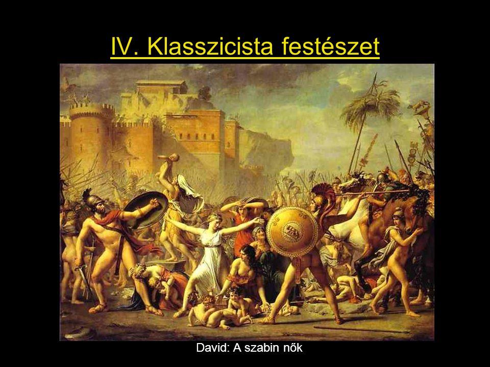 IV. Klasszicista festészet