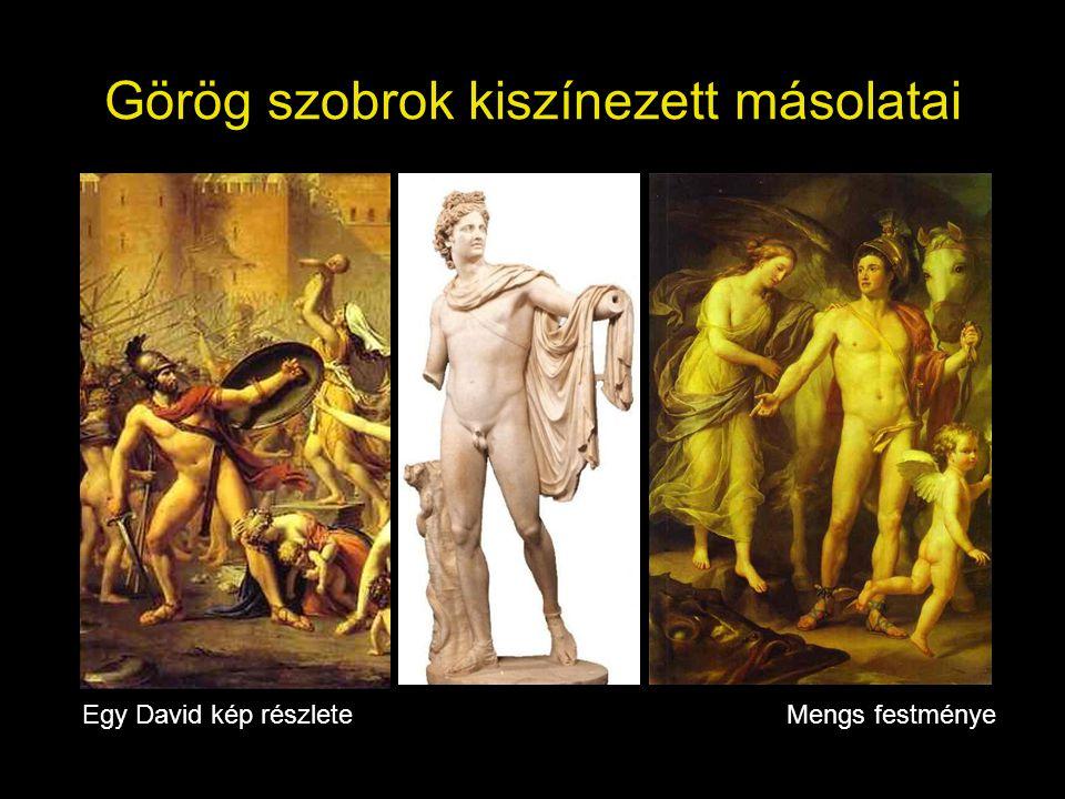 Görög szobrok kiszínezett másolatai