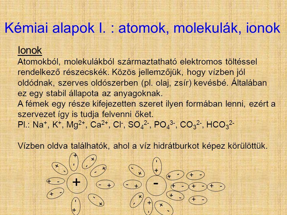Kémiai alapok I. : atomok, molekulák, ionok