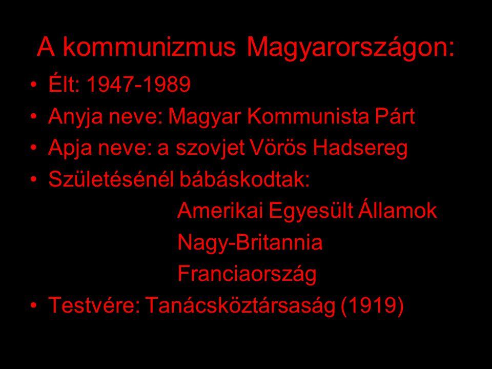 A kommunizmus Magyarországon: