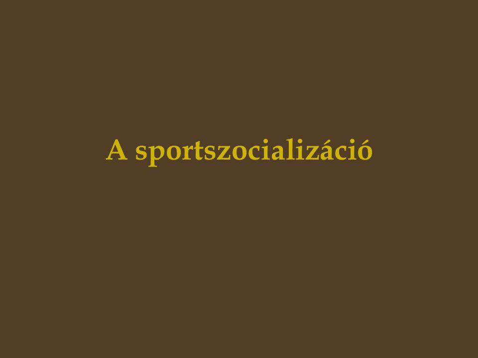 A sportszocializáció