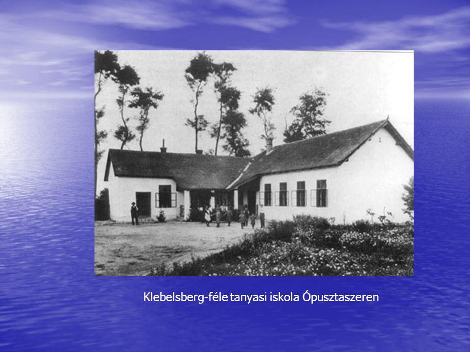 Klebelsberg-féle tanyasi iskola Ópusztaszeren