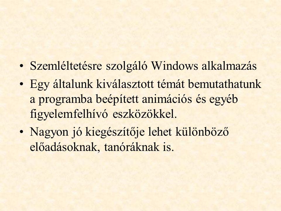 Szemléltetésre szolgáló Windows alkalmazás