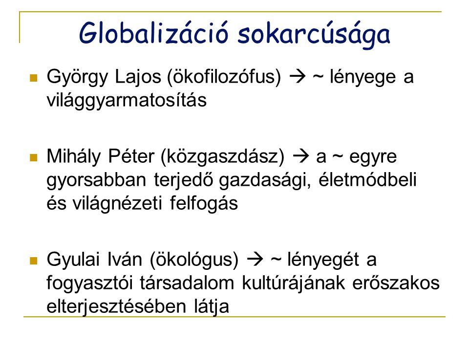 Globalizáció sokarcúsága