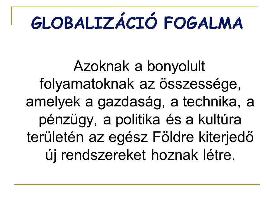 GLOBALIZÁCIÓ FOGALMA