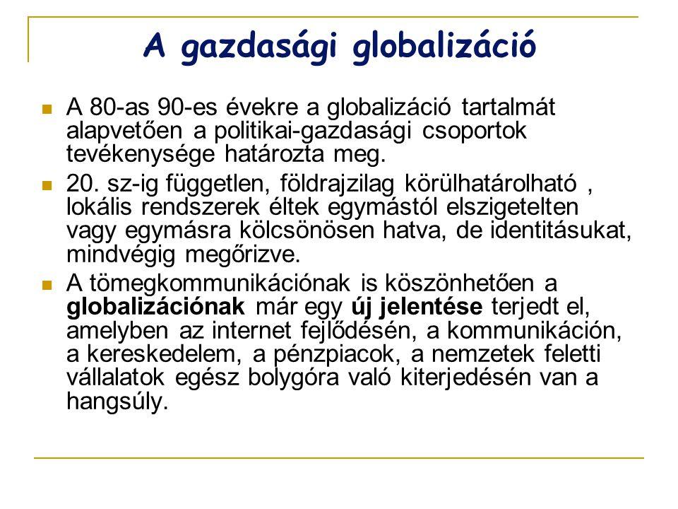 A gazdasági globalizáció
