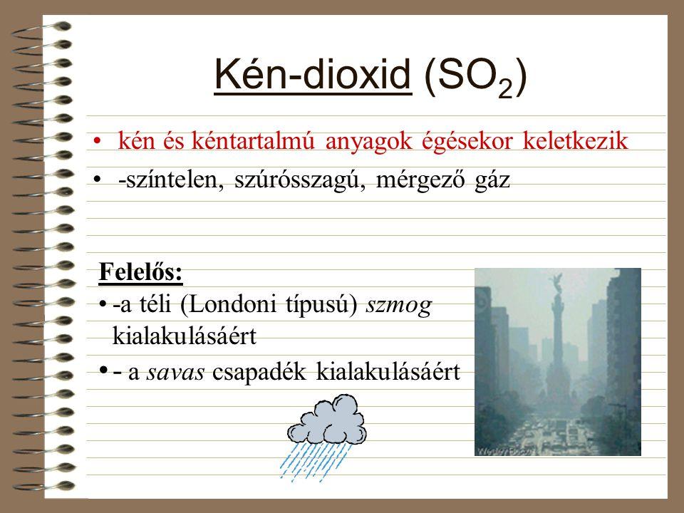 Kén-dioxid (SO2) - a savas csapadék kialakulásáért