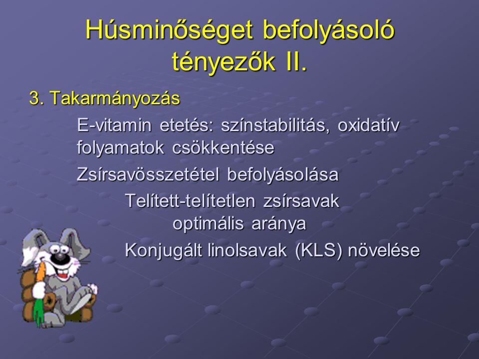 Húsminőséget befolyásoló tényezők II.