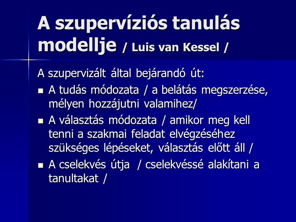 A szupervíziós tanulás modellje / Luis van Kessel /