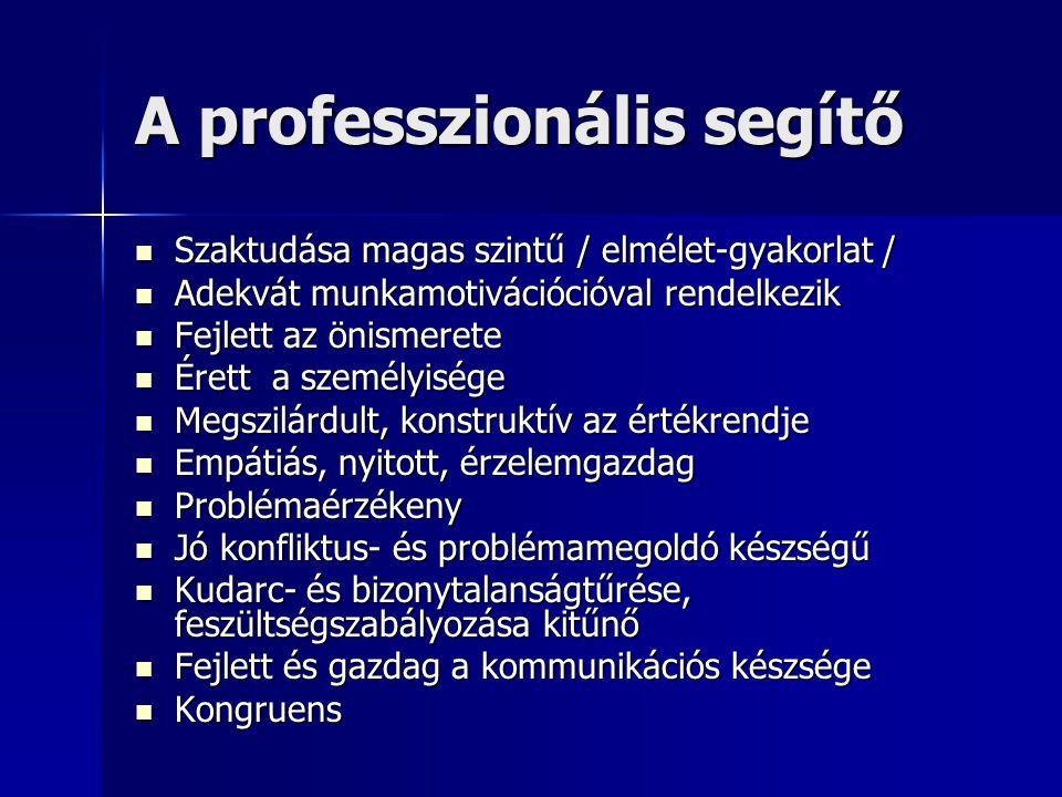 A professzionális segítő