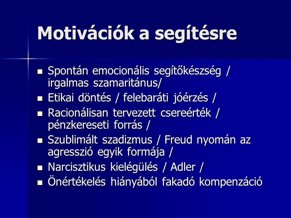Motivációk a segítésre