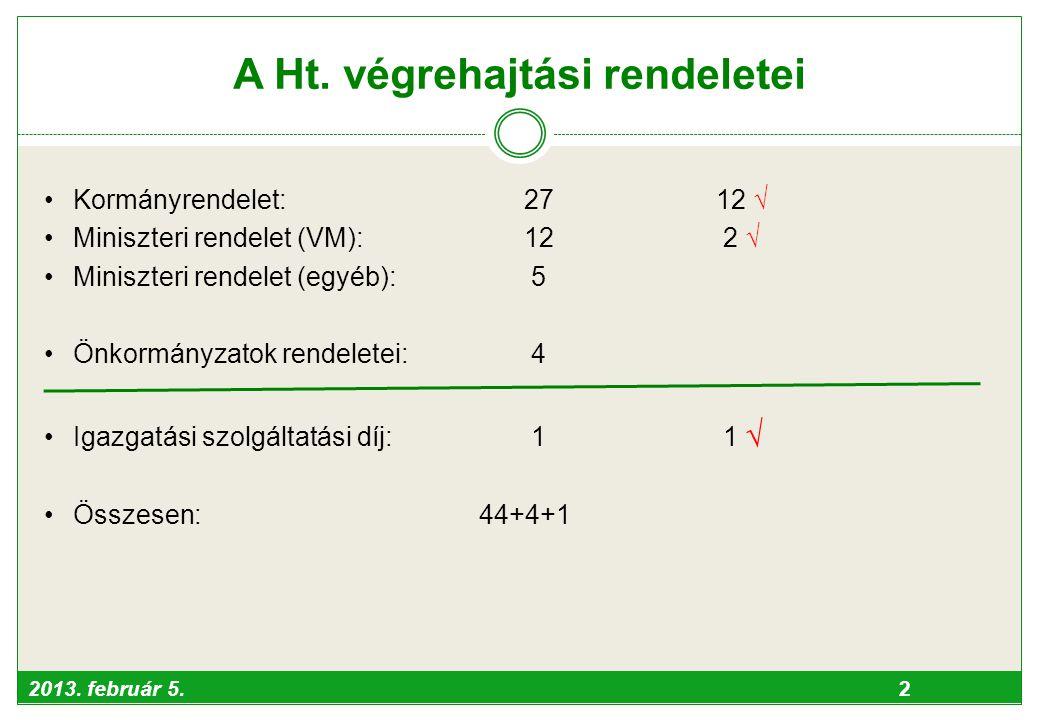 A Ht. végrehajtási rendeletei